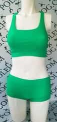 Vivid green colourz racer top