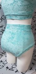 Mint sky crushed velvet (full) high waisted panel pant