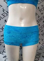 Turq blue crushed velvet bottoms