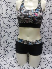 grey prismatic racer top