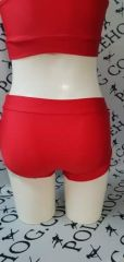 Bright red racer bottoms
