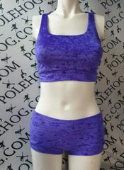 Uv purple crushed velvet bottoms