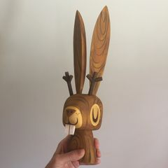 Wood Jackalope resin bust