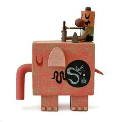 Snake Oil Pink Elephant vinyl figure set