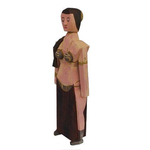Slave Leia wood idol