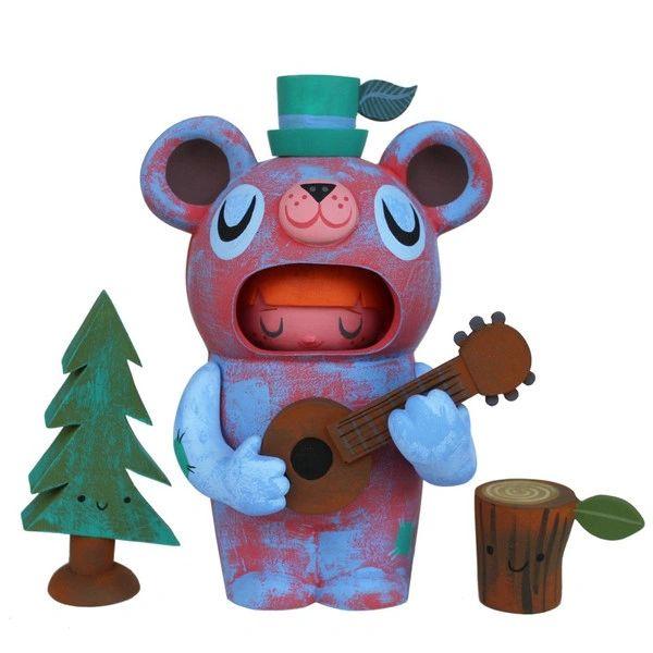Guitar Bear Mascot