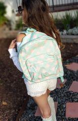 Qua-trefoil Mint & Peach Full Size Backpack