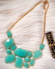 Best Of Mint Green Statement Necklace Multi Layered