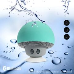 Mr. Mushroom ~ Wireless 3.0 Bluetooth 3W Stereo Loudspeaker & Mic with Suction-Cup Stand in Mint Green for ALL Bluetooth Enabled Devices