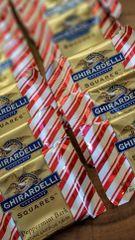 Dozen Fresh Ghirardelli Peppermint Bark White & Milk Chocolate Squares Candy