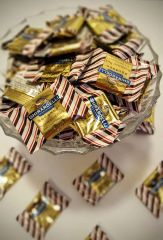 Dozen Ghirardelli Peppermint Bark with Dark Chocolate Squares Candy