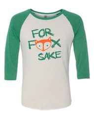 For Fox Sake Baseball Tee
