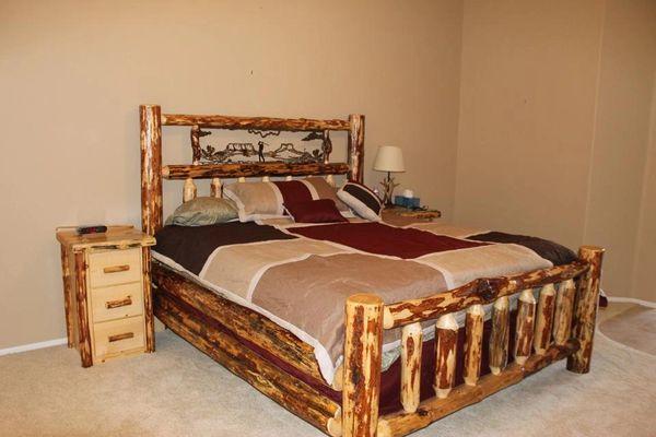 Oregon Metal Art Log Bed