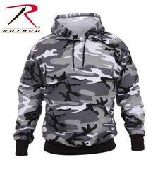 City Camo Pullover Hooded Sweatshirt | 2690