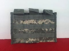 MOLLE Triple-Magazine Pouch (Shingle type), RIFLE MAGS, ACU Pattern, USED
