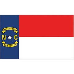 FLAG - NORTH CAROLINA (3ftx5ft)