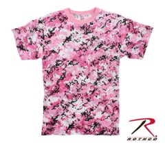PINK AND BLACK DIGITAL CAMO T-SHIRT