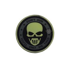 PVC MORALE PATCH - GLOW-DON'T RUN GHOST