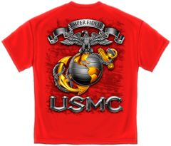 USMC SEMPER FIDELIS Eagle Globe and Anchor T-Shirt