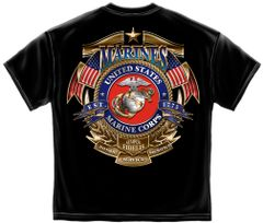 US Marines T-Shirt | USMC Badge of Honor | Eagle Globe and Anchor