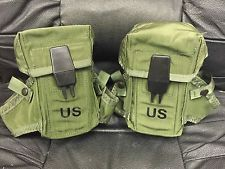 Military Small Arms Ammunition Case Magazine M-16 Rifle LC-1 Pouch LOT OF 2 EUC