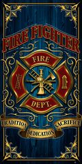 FIREFIGHTER TOWEL