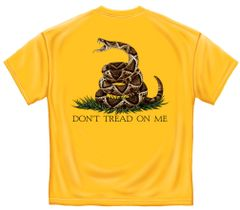 Don't Tread On Me T-Shirt - Yellow