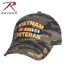 Deluxe Low Profile Vietnam Tiger Stripe Cap