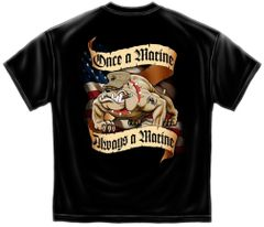 Once A Marine Always A Marine Corps T-Shirt