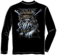 Never Retreat Never Surrender Marine Corps Long Sleeve T-Shirt