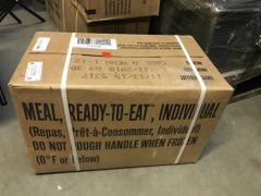 MRE Case A 2018 Inspection Date Meals Ready-to-Eat, Case of 12 MREs NEW