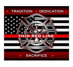 Thin Red Line Fleece Blanket | FF2311-TB