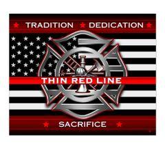 Thin Red Line Fleece Blanket | FF2311-TB