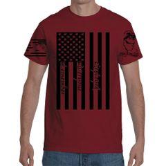 Gun Monkey's R.E.D Flag Red T-Shirt