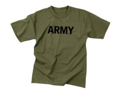 Kids Olive Drab Military Physical Training T-Shirt | Army | 66136
