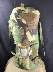 Woodland Camo NBC LARGE CHEMICAL SACK Multi-purpose Bag BACKPACK EUC