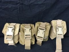 LOT OF 4 Military Surplus -Coyote Brown Multi-Purpose Small Single Pouch USED
