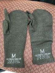 Military Issue Trigger Finger Mitten Insert - Wool Blend - OD Green