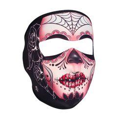 Neoprene Full Face Mask - Sugar Skull