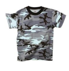 Kids Sky Blue Camo T-Shirt