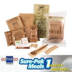 Sopakco Sure-Pak MRE Full Meal Kit with Heater - Single Sample (Civilian MRE)