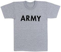 Kids Army Grey Physical Training T-Shirt | 66080
