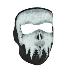 Neoprene Full Face Mask - Glow in the Dark Punisher Skull