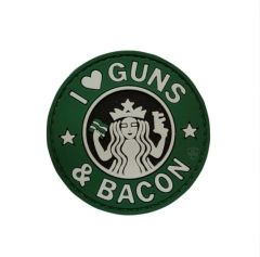 PVC MORALE PATCH - GUNS & BACON