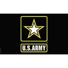 ARMY STAR LOGO FLAG (3ftx5ft)