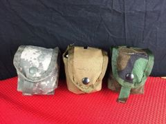 LOT OF 3 -US Military Hand-Grenade Multi Pocket Pouch EUC Variety Lot USA MADE
