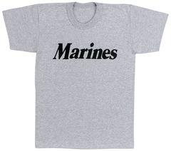 Kids Marines Grey Physical Training T-Shirt | 66032