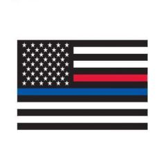 Thin Blue Line & Thin Red Line Flag Decal