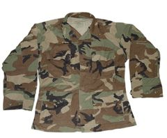 Used Woodland Camouflage BDU Shirt