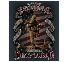 American Soldier Fleece Blanket | MM112-TB